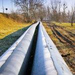 Aquanet SA, Rurociągi tłoczne do podziemnego przewiertu pod rzeką Wartą